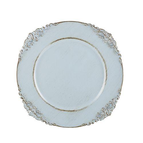 Sousplat em Plástico Bon Gourmet Provençal Azul