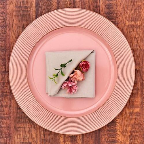 Sousplat Provençal Havan Rose Rose