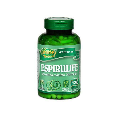 Spirulina 500mg Espirulife - Unilife - 120 Cápsulas