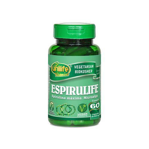 Spirulina 500mg Espirulife - Unilife - 60 Cápsulas