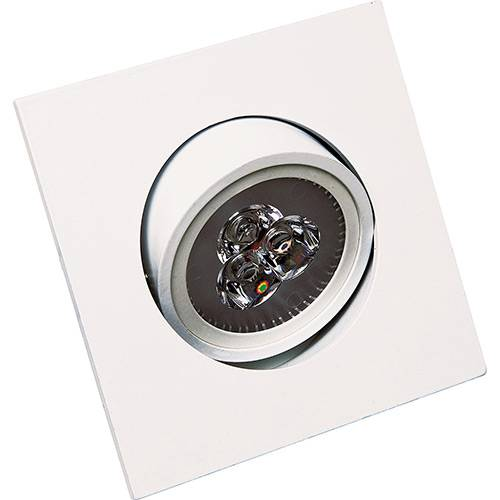 Spot de Embutir Super LED 4.000K Quadrado Alumínio Branco 3W Bivolt - Startec
