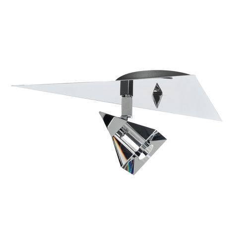 Spot em Alumínio e Cristal 7001 Cromado - 25 X 16 Cm