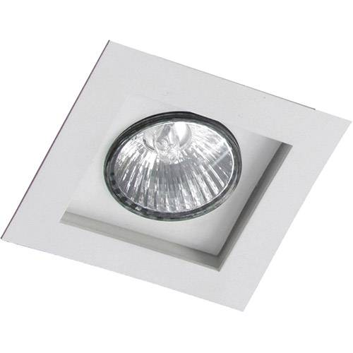 Spot Embutir Flat/1 E27 Alumínio Branco - Attena