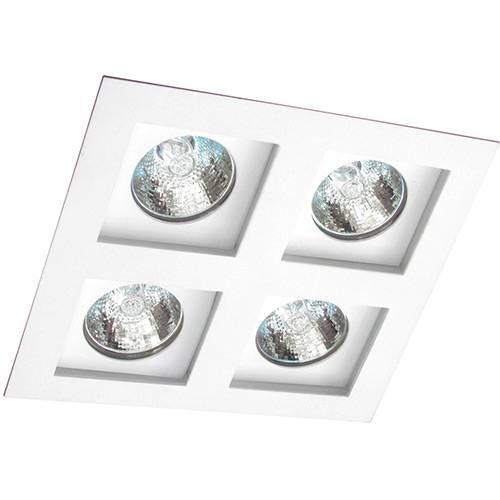 Spot Embutir Flat/4 Gu10 Alumínio Branco - Attena