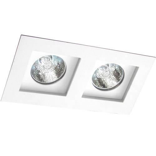 Spot Embutir Flat/2 Gu10 Alumínio Branco - Attena