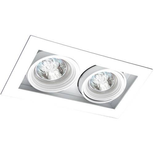 Spot Embutir Saturno/2 Gu10 Alumínio Branco - Attena