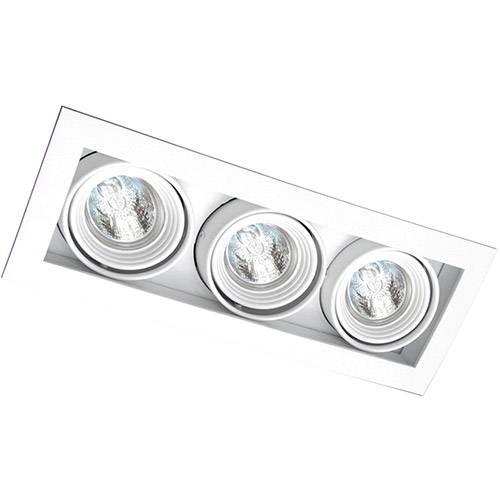 Spot Embutir Saturno/3 Gu10 Alumínio Branco - Attena