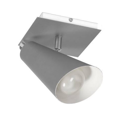 Spot Sobrepor PT 01 em Alumínio Prata -15 X 17,5 Cm