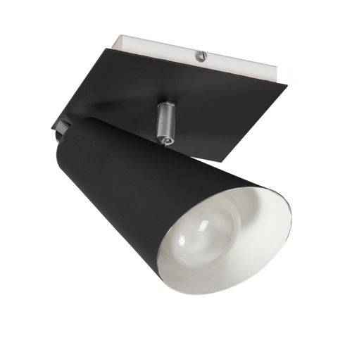 Spot Sobrepor PT 01 em Alumínio Preto -15 X 17,5 Cm