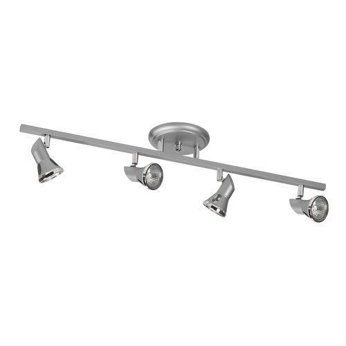 Spot Sobrepor Trilho 5704 em Alumínio Prata - 70 X 16,5 Cm