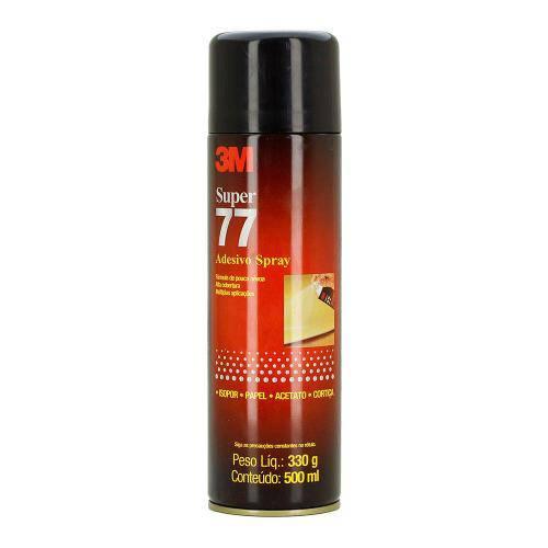 Spray Adesivo 3m 77 Cola Multiuso para Isopor | Papel | Acetato | Cortiça Alta Cobertura 330g