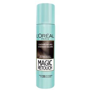 Spray Corretivo L'Oréal Paris Magic Retouch Capilar Castanho Escuro 75ml