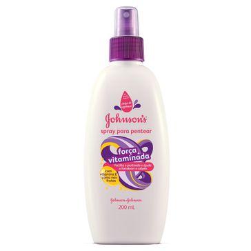 Spray Creme de Pentear Johnson & Johnson Força Vitaminada 200ml