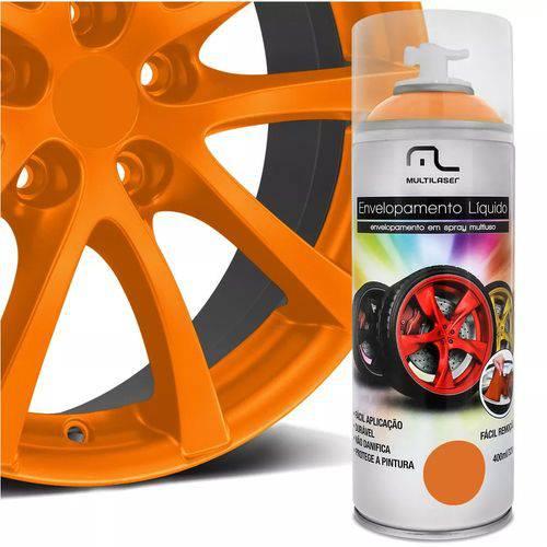 Spray Envelopamento Liquido Laranja Fluorescente 400 ML Multilaser - Au426
