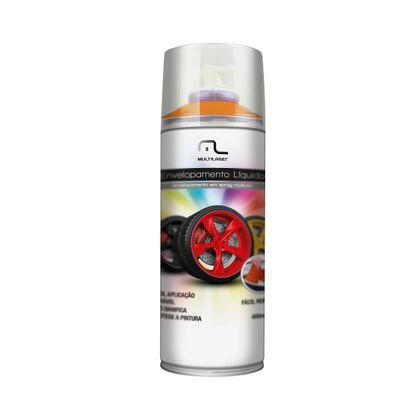 Spray Envelopamento Liquido Laranja Fluorescente 400ML Multilaser AU426 AU426