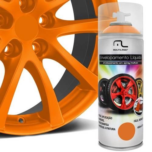 Spray Envelopamento Liquido Laranja Fluorescente 400ML Multilaser - AU426