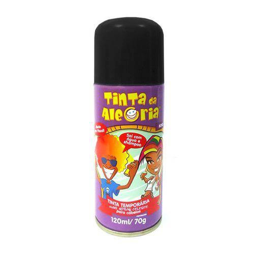 Spray para Cabelos Tinta da Alegria 120ml Preto