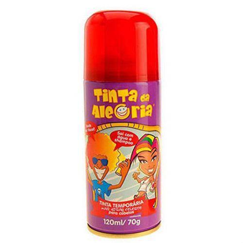 Spray para Cabelos Tinta da Alegria 120ml Vermelho