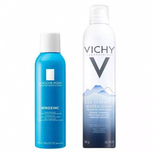 Spray Purificante Serozinc 150ml + Água Termal 300g Vichy