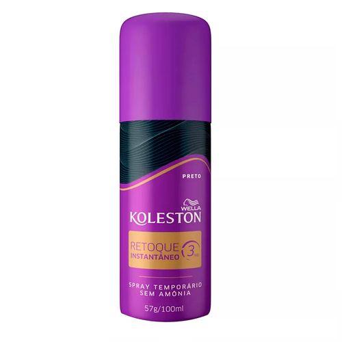 Spray Retoque de Raiz Koleston 100ml Preto