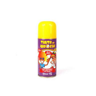 Spray Tinta Temporária para Cabelos 120ml Amarelo Interpack