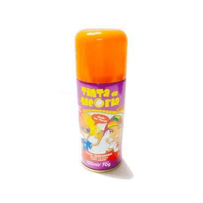 Spray Tinta Temporária para Cabelos 120ml Laranja Interpack
