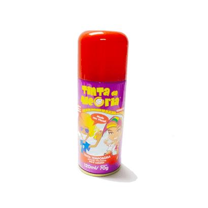 Spray Tinta Temporária para Cabelos 120ml Vermelho Interpack