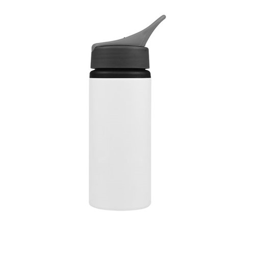 Squeeze de Alumínio Branco com Bico para Sublimação 500ml Unidade
