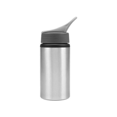 Squeeze de Alumínio Prata com Bico para Sublimação 500ml Unidade