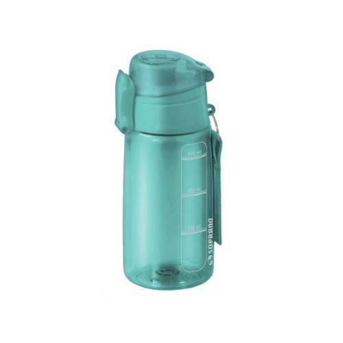 Squeeze Garrafinha 550ml Água Azul Turquesa Marca Soprano
