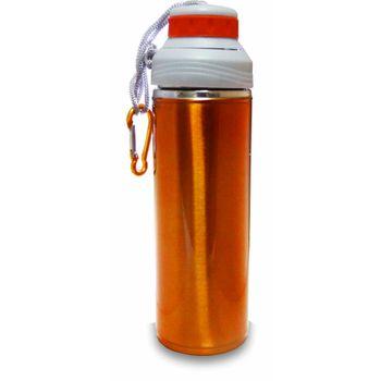 Squeeze Inox Plast Rosca 350ml Ptl162 - Laranja