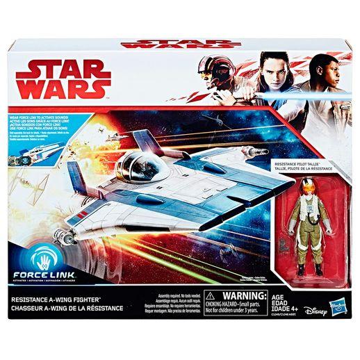 Star Wars Force Resistence Force Link Classe de Veículo B Tallie Piloto - Hasbro