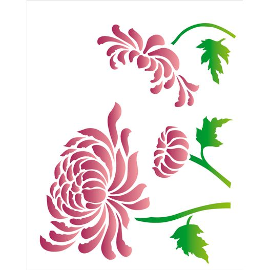 Stencil 20x25 OPA 2182 Flor Crisantemo