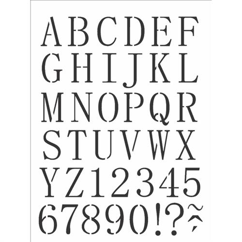 Stencil 15x20 OPA 2495 Alfabeto Reto Maiúsculo