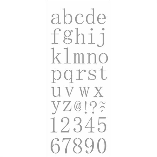 Stencil 17x42 OPA 2505 Alfabeto Reto Minúsculo