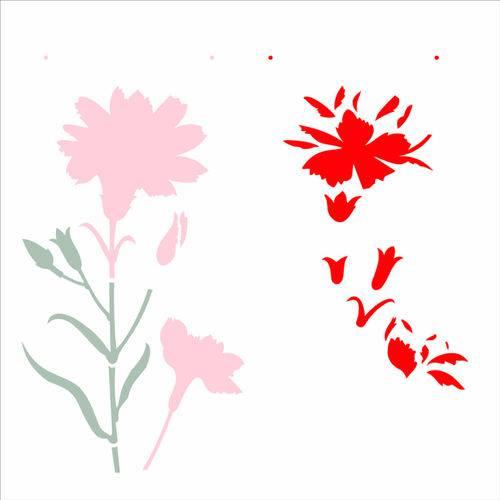 Stencil de Acetato para Pintura Opa 30,5x30,5 2369 Flor Cravo