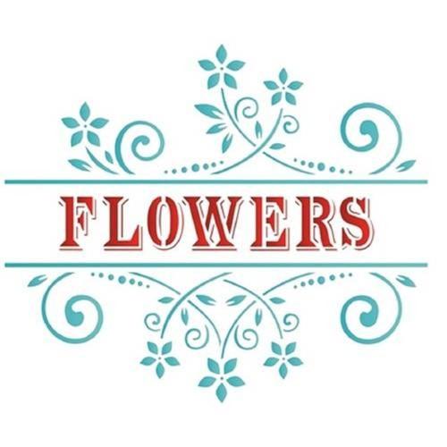 Stencil de Acetato para Pintura Opa 20 X 25 Cm - 1442 Flowers