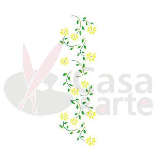 Stencil de Acetato para Pintura Opa 10 X 30 Cm - 341 Margaridas