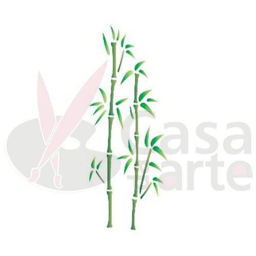 Stencil de Acetato para Pintura Opa 10 X 30 Cm - 697 Bambú