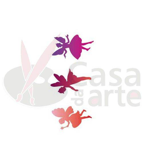 Stencil de Acetato para Pintura Opa 10 X 30 Cm - 698 Fadas
