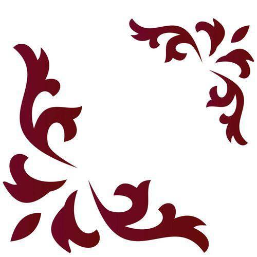 Stencil de Acetato para Pintura Opa 10 X 10 Cm - Cantoneira Curva