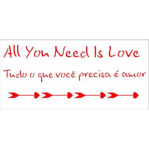 Stencil de Acetato para Pintura Opa 7x15 2322 Frase Amor