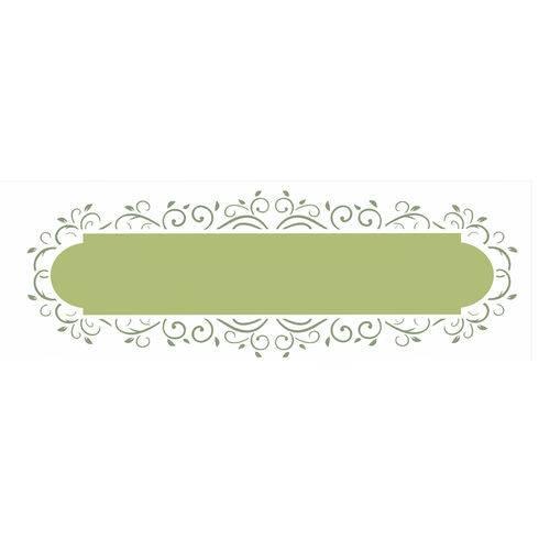 Stencil de Acetato para Pintura Opa Simples 10 X 30 Cm - 2421 Moldura Arabesco Ii
