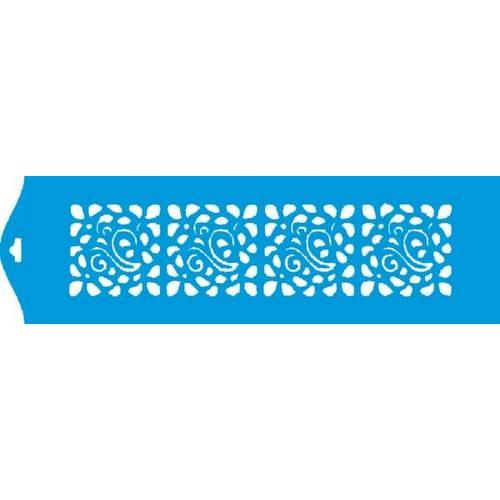 Stencil Epoca Arabesco 8,4x28,5 Ste020 Litoarte 8.4x28.5