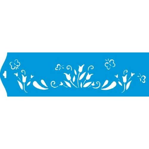Stencil Epoca Arabesco 8,4x28,5 Ste084 Litoarte