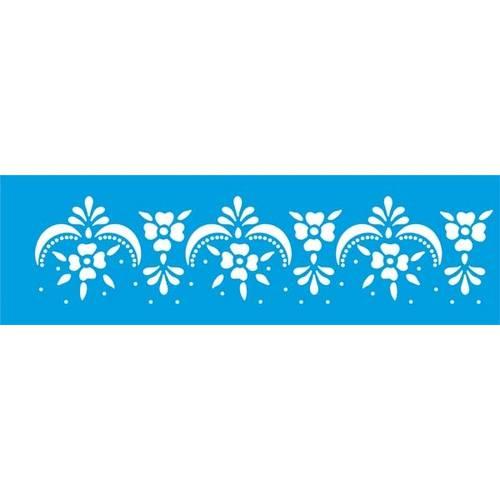 Stencil Epoca Arabesco 8,4x28,5 Ste134 Litoarte