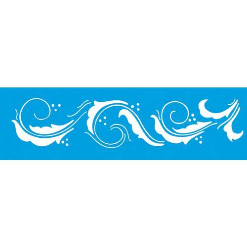 Stencil Epoca Arabesco 8,4x28,5 Ste184 Litoarte