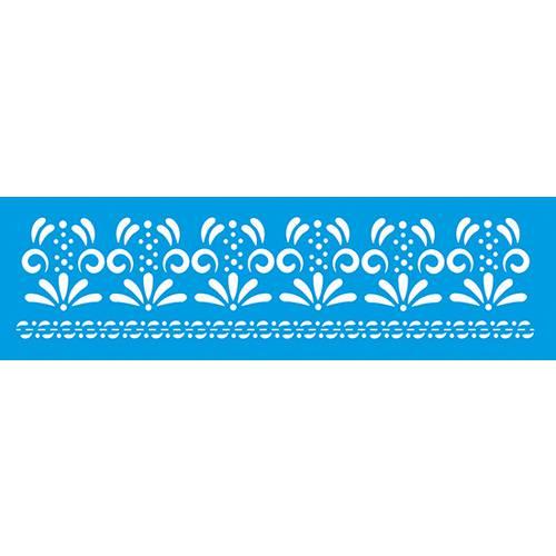 Stencil Epoca Arabesco 8,4x28,5 Ste228 Litoarte