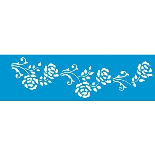 Stencil Epoca Arabesco Flor 8,4x28,5 Ste150 Litoarte