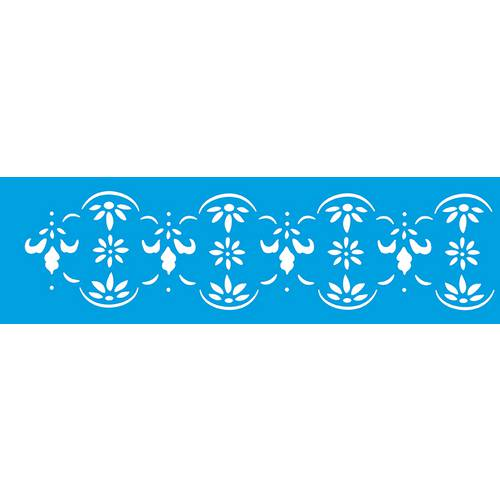 Stencil Epoca Arabesco Flor 8,4x28,5 Ste170 Litoarte 8.4x28.5